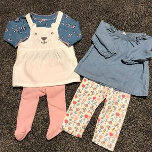 3 month baby girl matching outfits 🎀